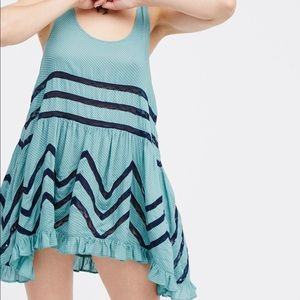 NWT Free People Voile Lace Trapeze Slip Dress